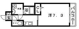 JR大阪環状線 寺田町駅 徒歩4分の賃貸マンション 10階1Kの間取り