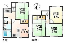 [一戸建] 兵庫県神戸市垂水区塩屋町字大谷 の賃貸【/】の間取り