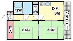 CASA六甲[1階]の間取り