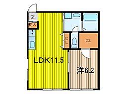 レジデンシア浦和皇山町[1階]の間取り