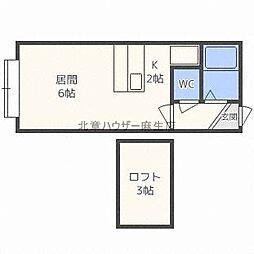 北海道札幌市北区北三十一条西4丁目の賃貸アパートの間取り
