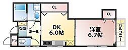 兵庫県神戸市灘区六甲町3丁目の賃貸マンションの間取り