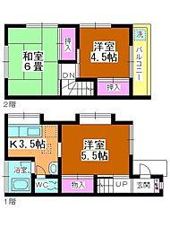 [テラスハウス] 埼玉県川越市吉田 の賃貸【/】の間取り