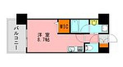 LANDIC K2620 10階ワンルームの間取り