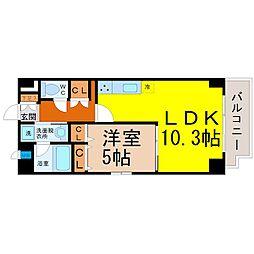 愛知県名古屋市東区筒井町4丁目の賃貸マンションの間取り