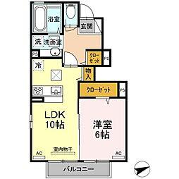 JR山陽本線 下関駅 徒歩26分の賃貸アパート 1階1LDKの間取り