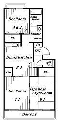 エクセルDハイム[2階]の間取り