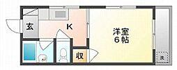 ファミール伊福町[3階]の間取り