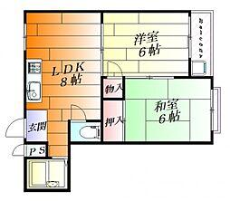 リバーライフ三島[3階]の間取り