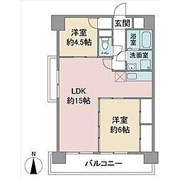 扶桑ハイツ1[11階]の間取り