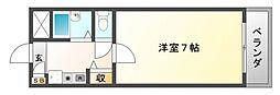 フローライト関大前[1階]の間取り