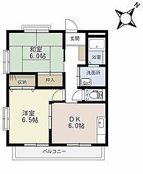 埼玉県上尾市大字上の賃貸アパートの間取り