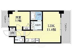 S-RESIDENCE江坂Eminence 3階1LDKの間取り