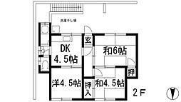 旭丘1丁目アパート[2階]の間取り