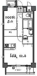 Laulea御器所[4階]の間取り