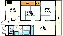 和泉シティハイツ[4階]の間取り