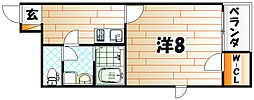 レオネクストアリエッタ桜橋[2階]の間取り