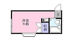 木谷コーポ[2階]の間取り
