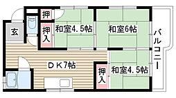 マンション松田[3F号室]の間取り