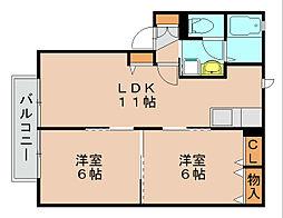 シャーメゾン吉塚[2階]の間取り