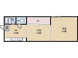 南野マンション[2階]の間取り