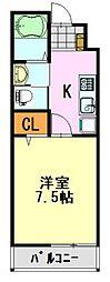 AQUE12[1階]の間取り
