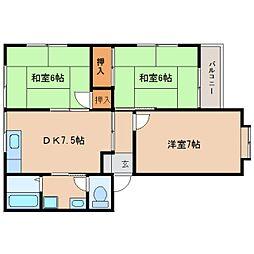 静岡県静岡市清水区有度本町の賃貸マンションの間取り