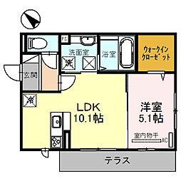 SS(ダブルエス)[1階]の間取り