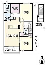 ウィステリア I[2階]の間取り