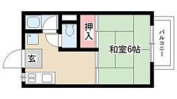 愛知県名古屋市瑞穂区豊岡通2の賃貸アパートの間取り
