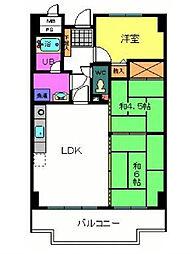 ライオンズマンション泉南樽井第2 9階3LDKの間取り