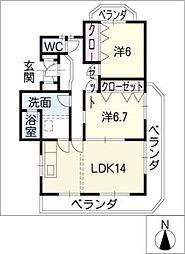 マイネハイム[2階]の間取り