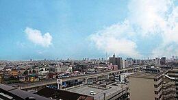 南側バルコニーからは「東京スカイツリー」と「足立の花火」が望めます。