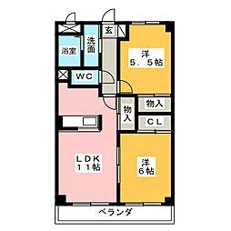 エトワール旭[2階]の間取り