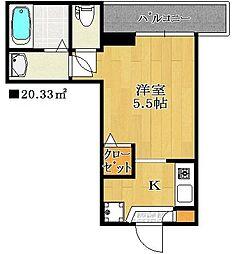 千葉県船橋市海神2丁目の賃貸アパートの間取り