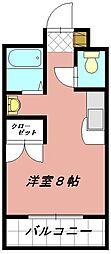 プレアール井堀[202号室]の間取り