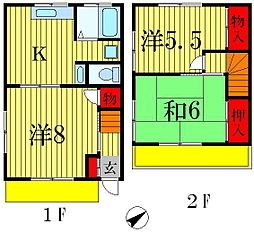 [一戸建] 千葉県松戸市松戸新田 の賃貸【/】の間取り
