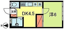 コーポ三好[2階]の間取り