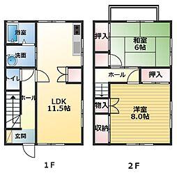 植田ハイツ3[1階]の間取り