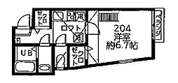 DSコート・21・INOKATA[204号室]の間取り