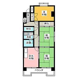 ローレル豊前[4階]の間取り
