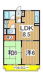 水戸屋マンション[302号室]の間取り