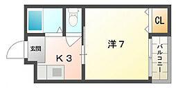 メゾン・ドゥ・エスポアール[1階]の間取り