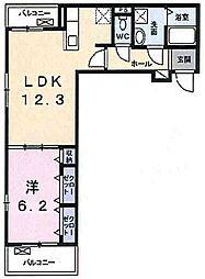 兵庫県明石市二見町西二見駅前2丁目の賃貸アパートの間取り