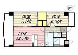 仮称)港3丁目マンション新築工事[8階]の間取り
