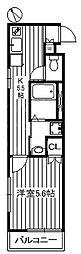 アークレジデンス東武練馬 3階1Kの間取り