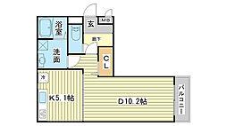 k・プラウド[3階]の間取り