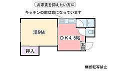 福岡県糸島市篠原西1丁目の賃貸アパートの間取り