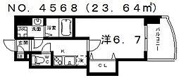 Luxe田辺(ラグゼ田辺)[405号室号室]の間取り