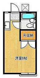 千葉県浦安市猫実4丁目の賃貸アパートの間取り